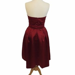 After Six Dresses - After Six Strapless Matte Satin Dress, Size: 8